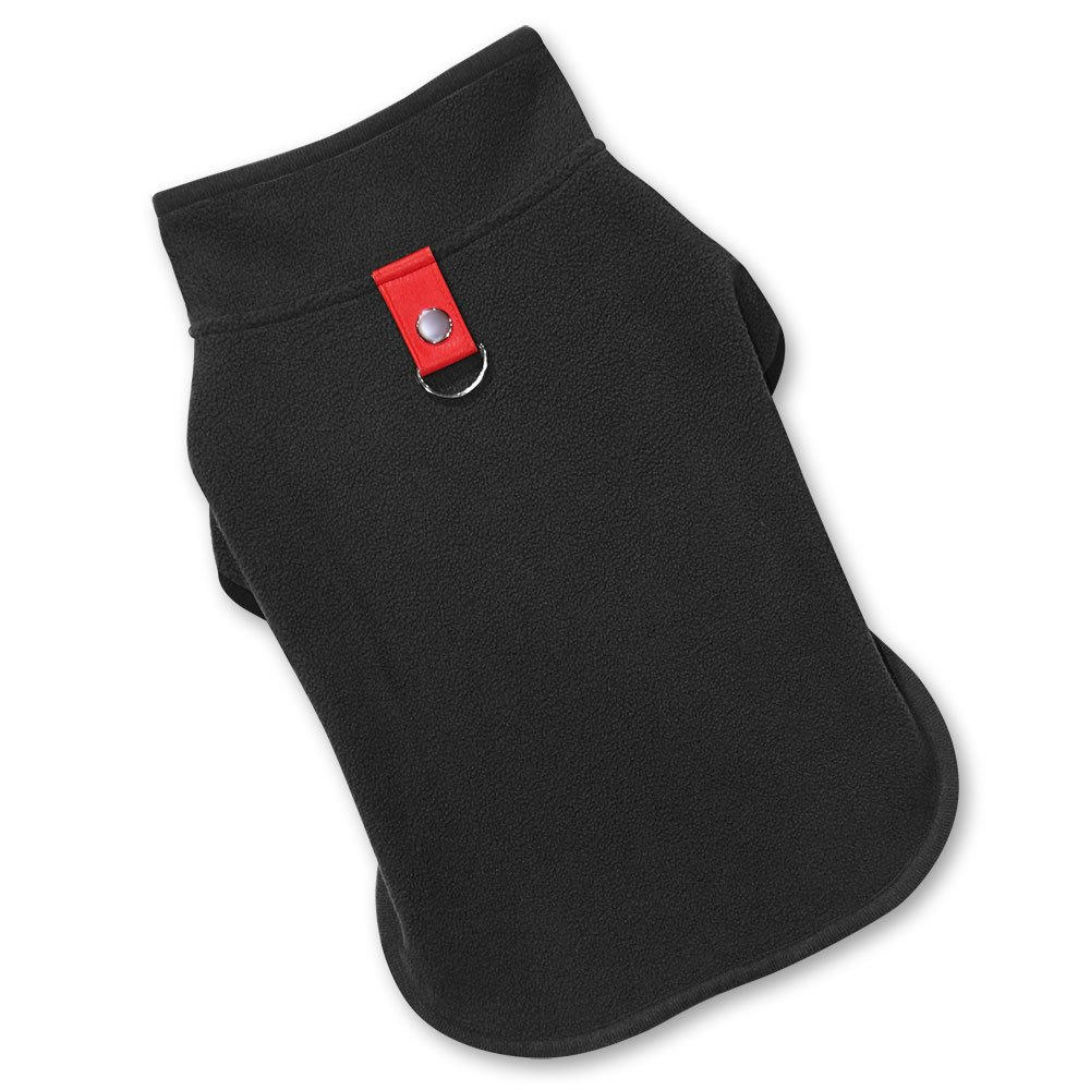 Best Pet Supplies 251-BK-S Voyager Windproof Fleece Pet Jacket, Small, Black by Best Pet Supplies, Inc. (Image #1)