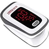 Fingertip Pulse Oximeter, Blood Oxygen Saturation Monitor (SpO2) with Pulse Rate Measurements and Pulse Bar Graph, Portable D