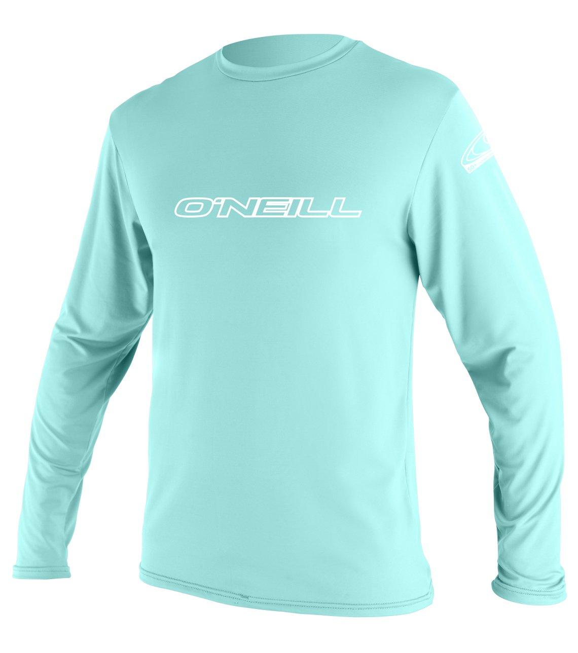 O'Neill Youth Basic Skins UPF 50+ Long Sleeve Sun Shirt, Seaglass, 6