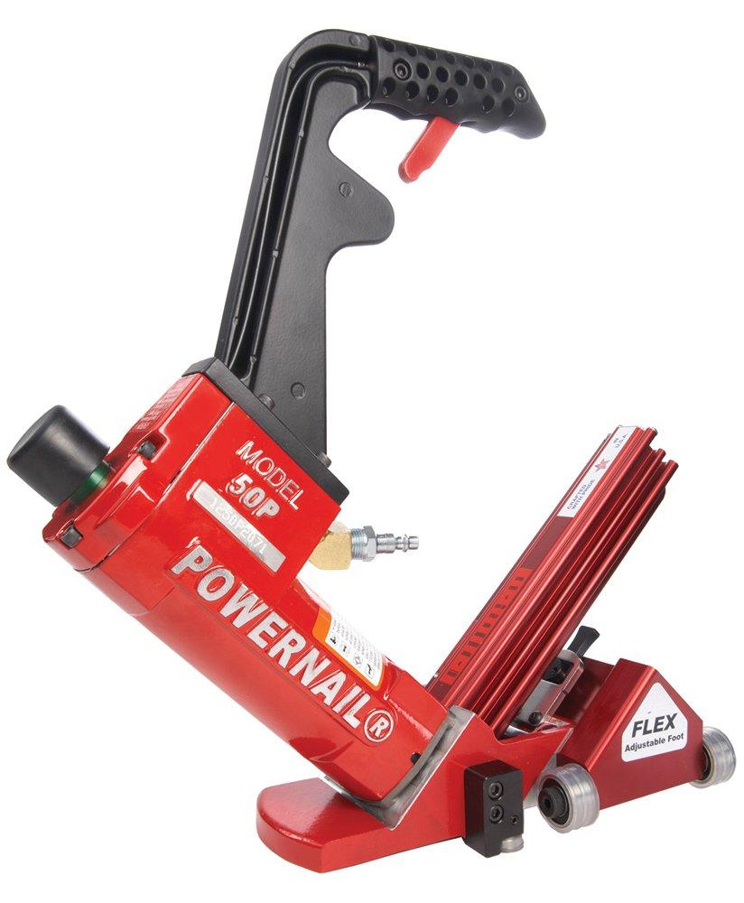 POWERNAIL Flex Power Roller 18-Gauge Pneumatic Hardwood Flooring Cleat Nailer