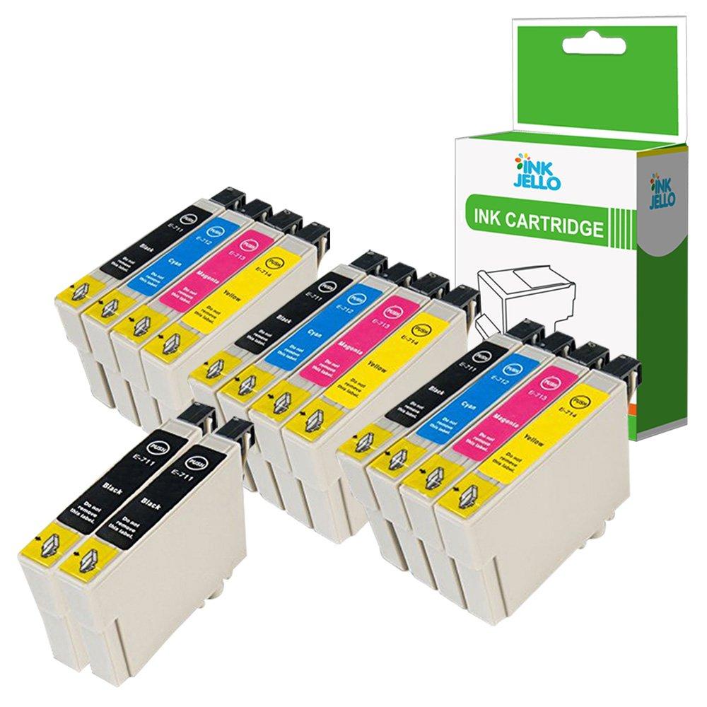 InkJello Compatible Tinta Cartucho Reemplazo para Epson Stylus ...