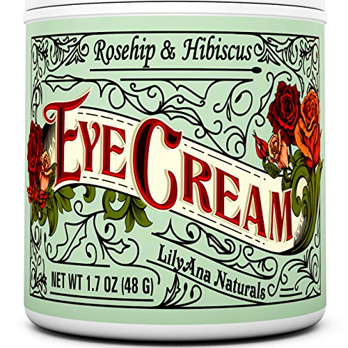 Eye Cream Moisturizer (1.7oz) 94% Natural Anti Aging Skin Care (Best Vegan Skin Care Line)