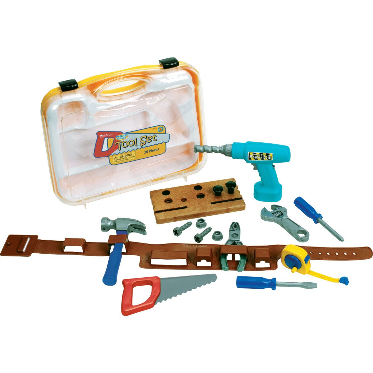 Learning Resources Pretend & Play Work Belt Tool Set