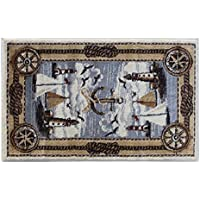 Area Rug Mat Nautical Scene (2 Feet X 3 Feet 2 Inch) Mat