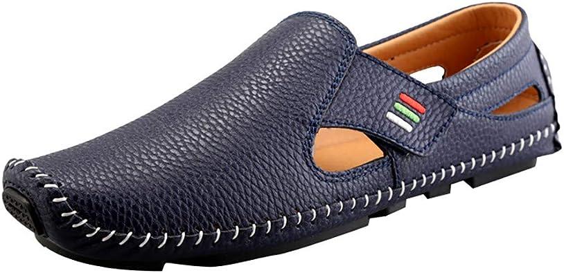 KItipeng Chaussures Homme,Pas Cher Mocassins en Cuir Hommes Penny Loafers,Plat Mocassins Chaussures Bateau Sneaker Non Slip Durable Respirant