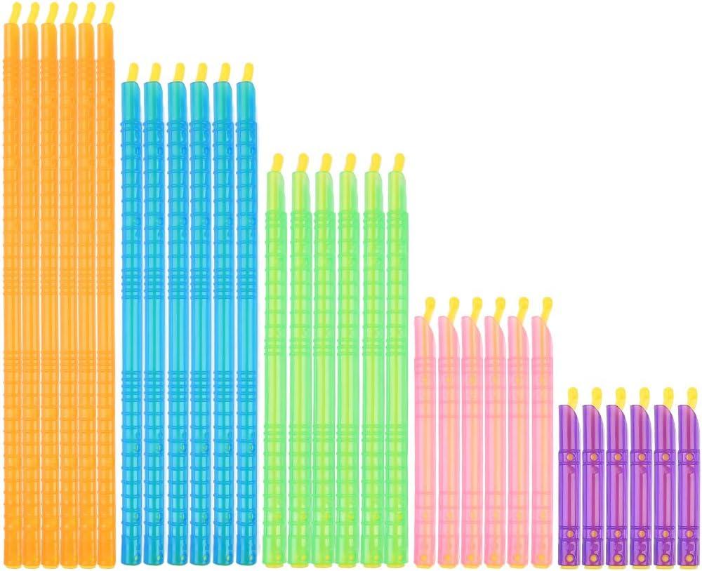 30 Pcs Bag Sealer Clips Sticks, 5 Sizes Plastic Bag Sealer Sticks, Bag Sealer Sealing Clips Sticks Chips Keeps Food, Chips, Salad Holders Fresh, Reusable Clip Sticks Bag Closure(5 Colors)