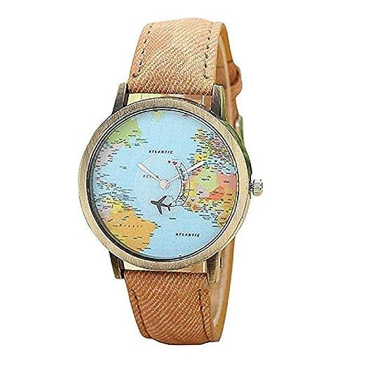 Reloj para Mujer, Liquidación en Rebajas Relojes para Mujeres Relojes para Mujeres Relojes de Mezclilla Dial Redondo (café): Amazon.es: Relojes