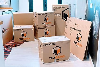 (10x) Cajas de cartón para Mudanzas Doble Pared con Asas EXTRAFUERTES TeleCajas X10TCM (x10) Lote de 10 unidades (40x40x60): Amazon.es: Oficina y papelería