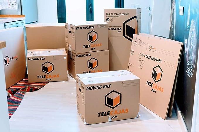 Cajas de Cartón económicas Canal Simple - TeleCajas X10TCSS (x10) Lote de 10 unidades (40x40x60 cms)