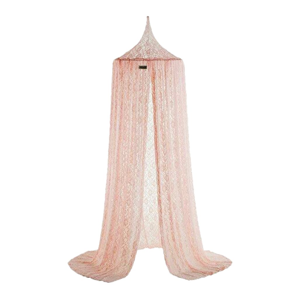 Prettyia Net Canopy Bed Curtain Dome Mosquito Insect Stopping Net Tent for Kids - Pink, as described