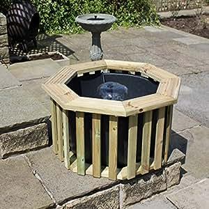 Wooden Terrace Garden Deck Pond & Pump Package