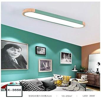WSYYWD Lámpara de techo LED de hierro de madera colorida nórdica ...