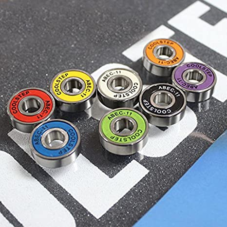 8 pcs//lot 608ZB ABEC-11 Carbon steel bearing for skateboard speed board colorful