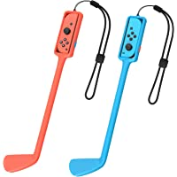 Golf Culb Hand Grip Compatible with Nintendo Switch Controller, Handle Grip Compatible with Joycon, Built in Solid Ball…