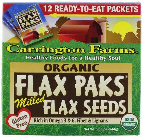 Carrington Farms Organic Ground Milled Flax Seed, 12 Count Easy Serve Packet by Carrington Farms