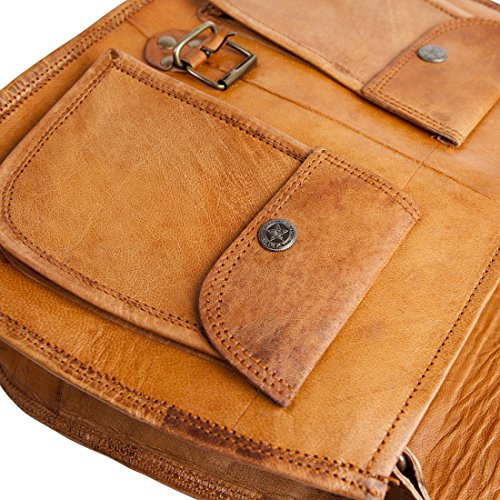 81stgeneration Genuine Vintage Satchel Shoulder Bag College Work City Casual Everyday Messenger Bag 01sblbg003