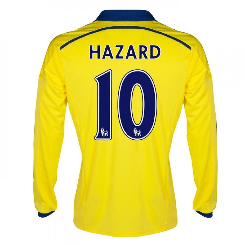 2014-15 Chelsea Long Sleeve Away Shirt (Hazard 10) B077VKC6VXYellow Large 42-44\