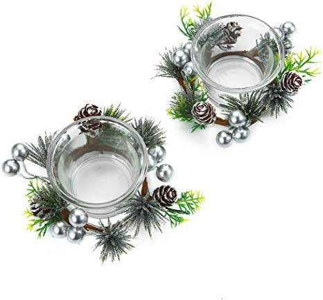 Wedding Gold Party and Home Decor Tealight Candle Holder with Reindeer Pattern for Christmas Decor OYATON Mercury Glass Votive Candle Holder Set of 4 pcs