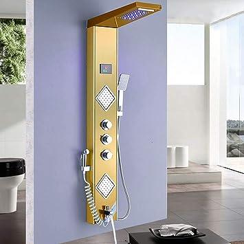 MIAOMIAOLI Set de ducha Mampara de ducha LED torre de columna de ...