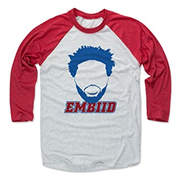 Camiseta de béisbol con diseño de Joel Embiid de 500 letras - Philadelphia Basketball Raglan Shirt