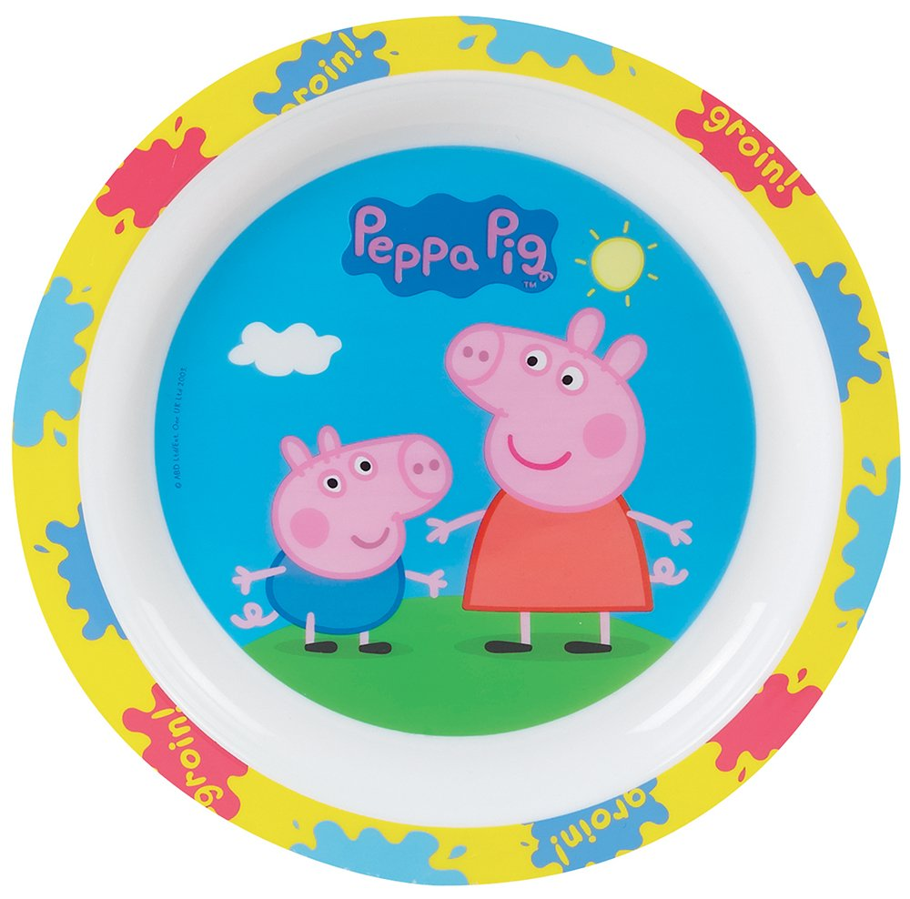 FUN HOUSE 005172/Peppa Big Piatto per Bambini Polipropilene Blu 22/x 22/x 1/cm