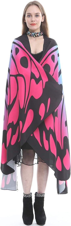Butterfly Wing Scialle Con Neckband /& Fingerband Costume Accessorio Kfnire Ali scialle sciarpe