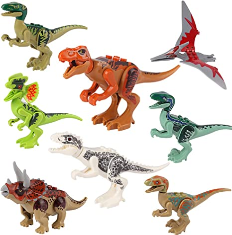 NEW Jurassic World T Rex Dino/'s Baby Indominus Dinosaur Big Figure Set 2 pcs