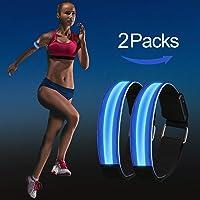 Greatever LED Armband - Reflective LED Jogging Armband Kinder Damen Herren Nacht Sicherheitslicht für Nachtlaufen, Radfahren, Wandern, Camping