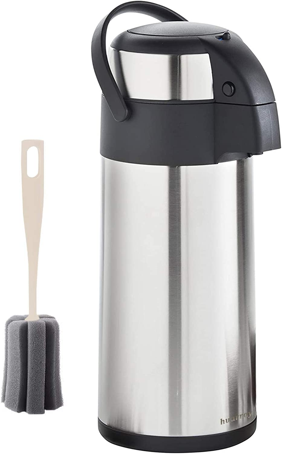 Stainless steel double-layer insulated water bottle with pump, coffee maker, water and beverage dispenser, 3 liters (100 ounces) vacuum insulation, 24-hour insulation/cold insulation, hot drink machine-cold/hot water party chocolate drink