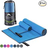 Arnuwa Microfiber Travel Towel Set by Quick Dry Ultra Absorbent Compact Antibacterial - Great for Camping, Hiking, Yoga, Sports, Swimming, Backpacking, Beach, Gym & Bath