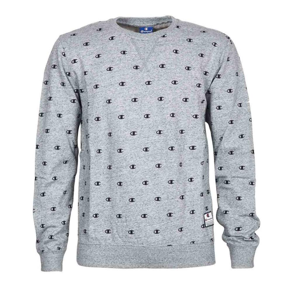 Champion Reverse Weave Crewneck Sweatshirt, Sudadera para Hombre, Gris (Grltm/Allover Fb000601 El014), XX-Large 212174