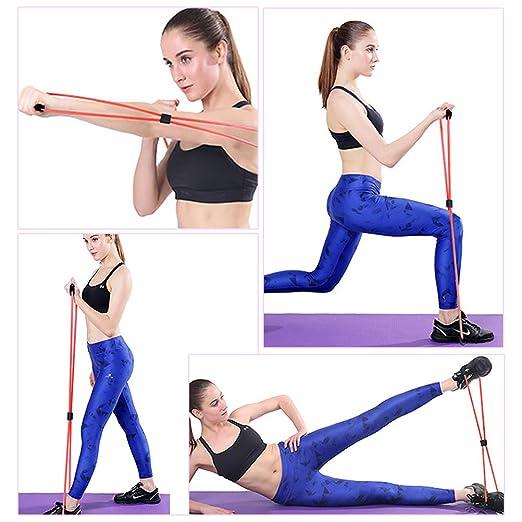 odowalker banda de ejercicio 8 tipo cuerda de bandas de resistencia tubo entrenamiento Fashion cuerpo edificio equipo herramienta para gimnasio en casa ...