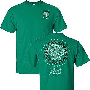 Southern Charm Wild Heart Gypsy Soul on a Green Shirt