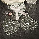 Heart Design Glass Coaster Love Wedding Favors (Set Of 2) , 72