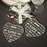 Heart Design Glass Coaster Love Wedding Favors (Set Of 2) , 72