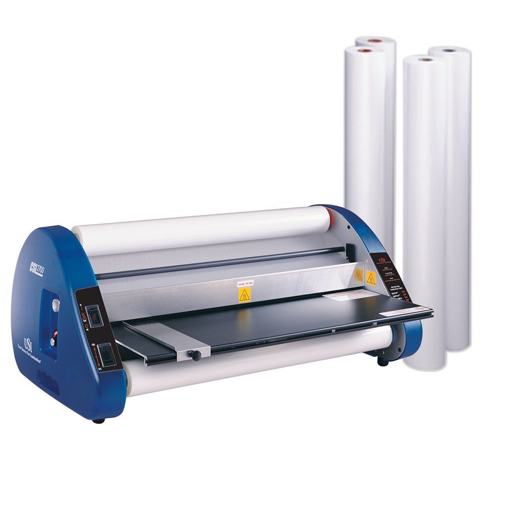USI Thermal (Hot) Roll Laminator, CSL 2700, Laminates Films up to 27 Inches Wide and 3 Mil Thick, 1 Inch Core, Includes 4 Rolls of Premium Opti Clear EVA Film; UL Listed Laminator has 2-YEAR WARRANTY