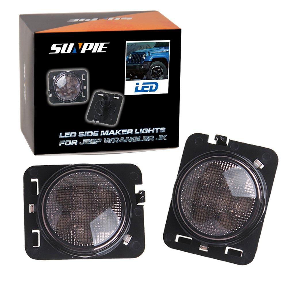 Led Side Maker Lights For Jeep Wrangler Amber Front Dash Warning Fender Flares Parking Turn Lamp Bulb Indicator Lens Automotive