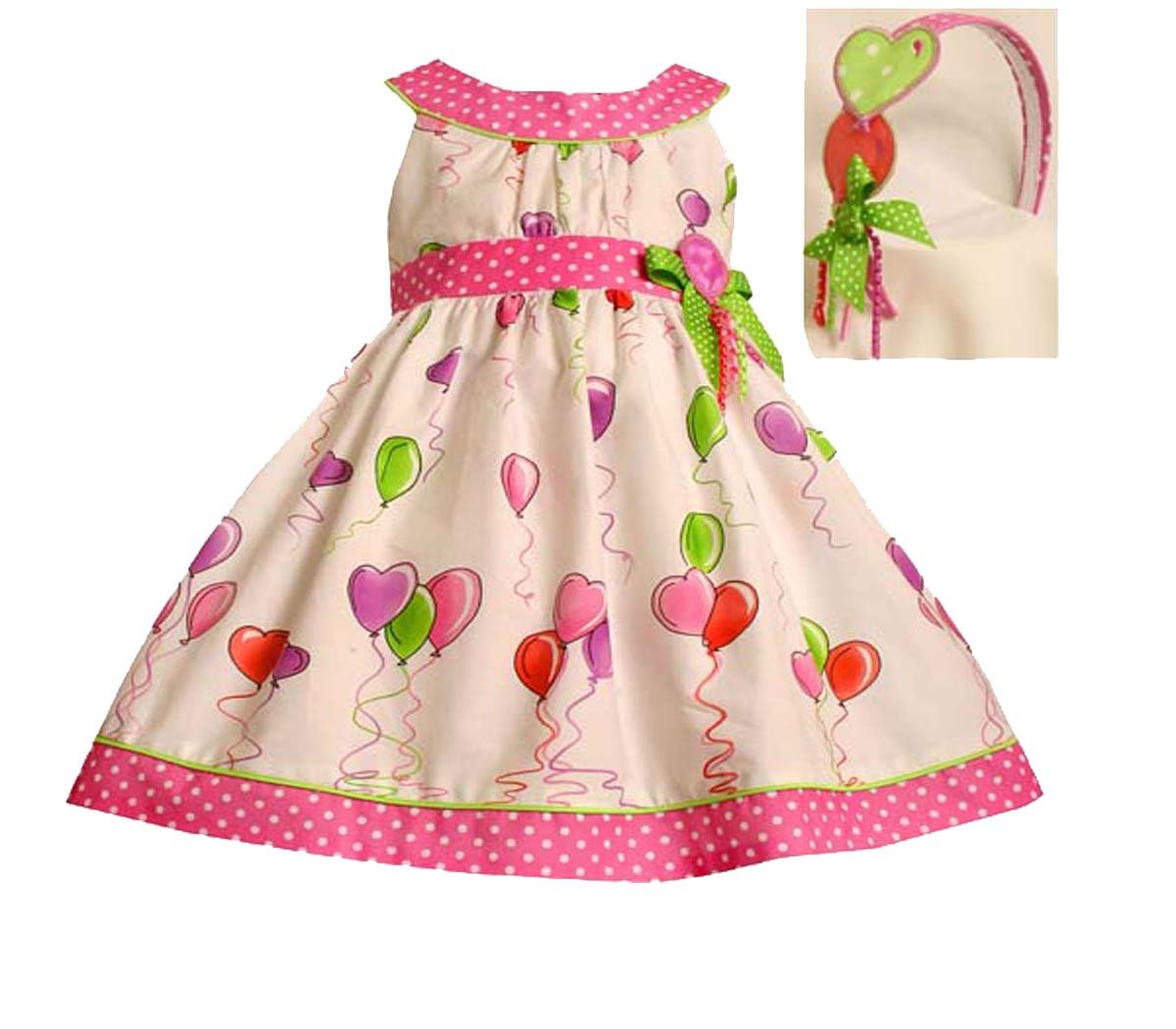 92f344523 Amazon.com  Bonnie Jean Baby Infant Girls 12M-24M WHITE PINK GREEN ...