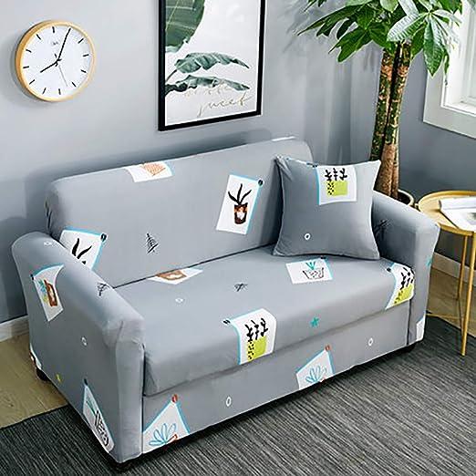 D&LE Protector para sofás 1 2 3 4 Plazas Poliéster Stretch ...