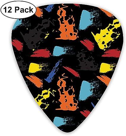 Sin fisuras patrón repetitivo de pinceladas Vector Guitar Picks ...