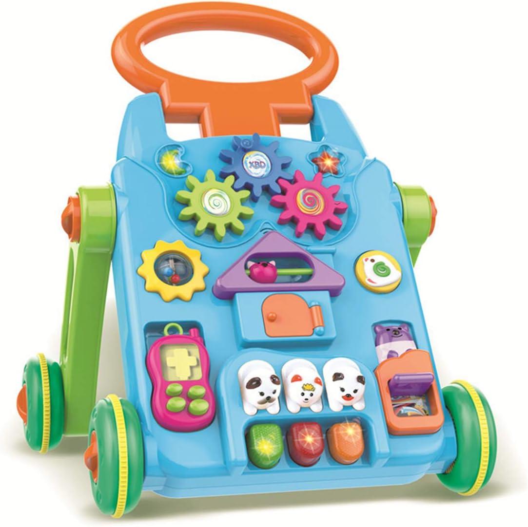 WBLin Carrito Educativo para niños de la Primera Infancia con un Tanque de Agua Multifuncional bebé Andador Juguetes de 0-3 años de Edad