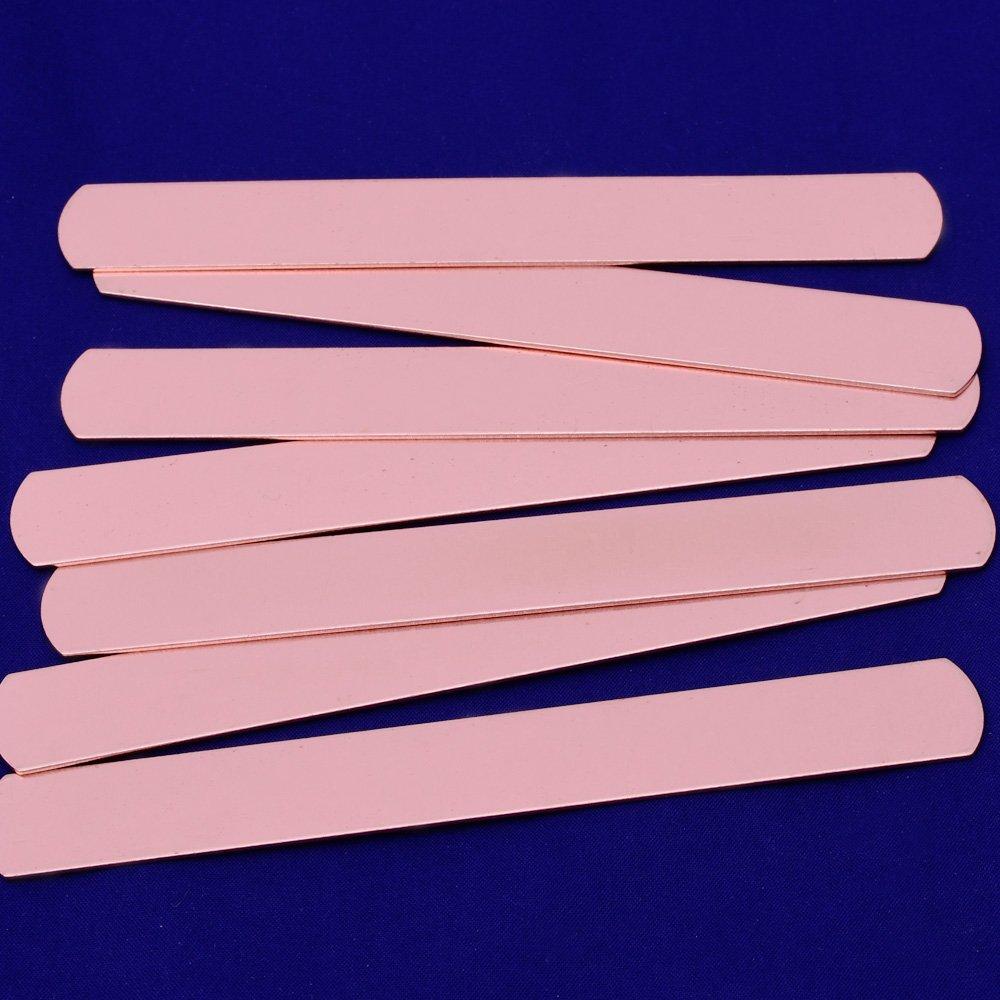 Etiquetas de tiras de 152 x 16 mm de Tibetara para joyas y pulseras DIY 5 unidades