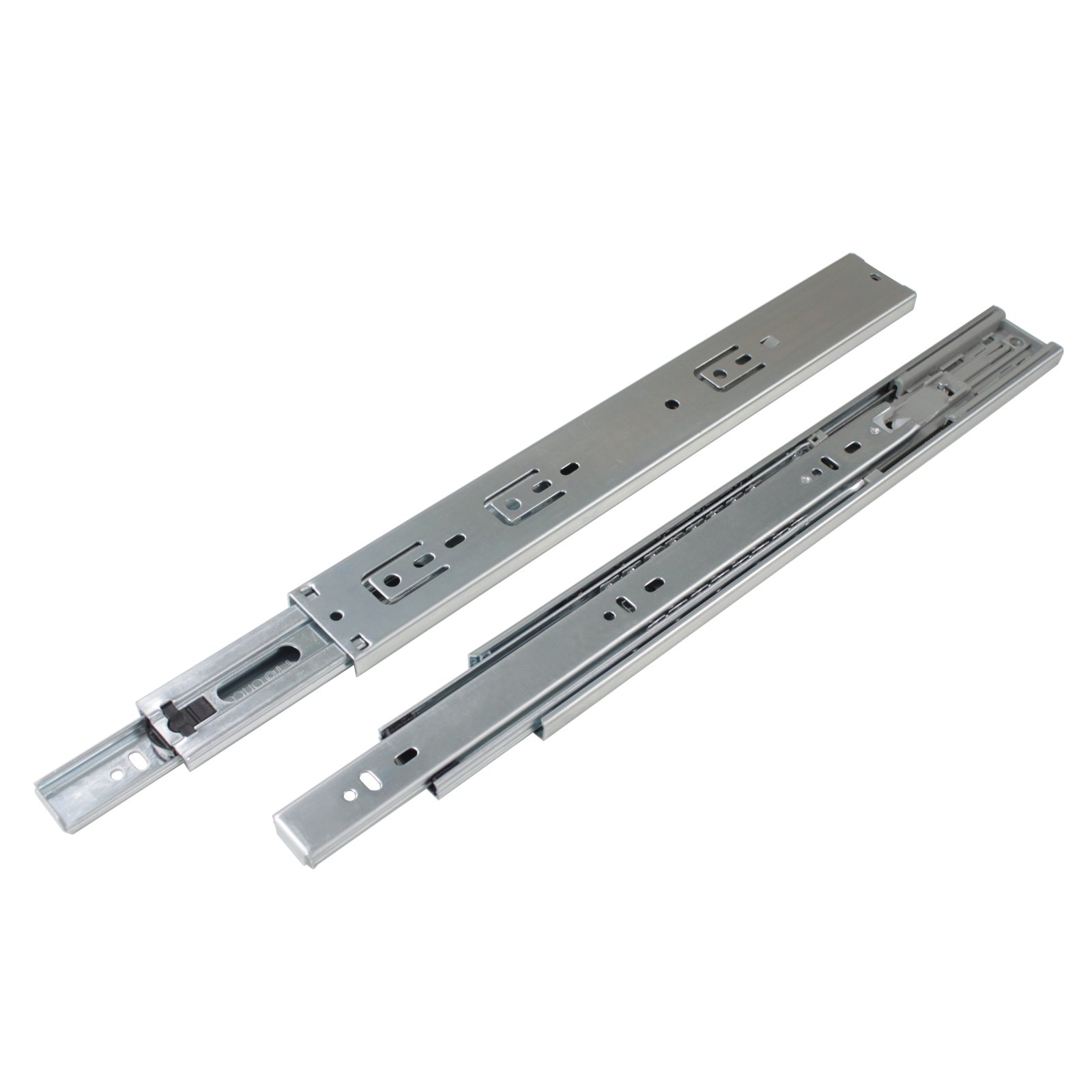 Gobrico Rear/Under Mounting Drawer Slides With Brackets Soft Closing Ball Bearing 100 Lb Glides Runners Full Extension 22in 5Pairs by Gobrico (Image #3)