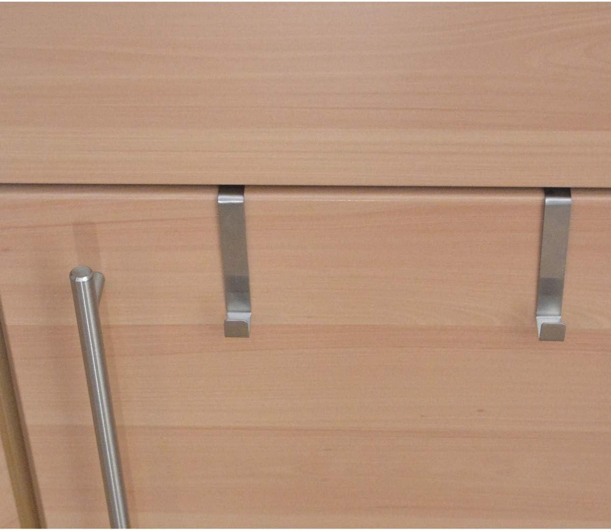 All de around24//® Universal de puertas Acero Inoxidable, 8/unidades gancho perchero para puerta Ganchos para puerta