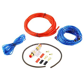 1500w car audio wire wiring amplifier cable subwoofer speaker installation  kit 8ga power cable amp fuse holder: amazon ca: automotive
