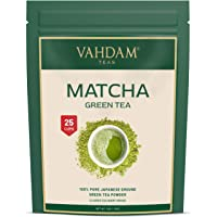 VAHDAM, Matcha Green Tea Powder SUPERFOOD (25 Servings) 100% Pure Authentic Japanese Matcha Powder | Classic Culinary…