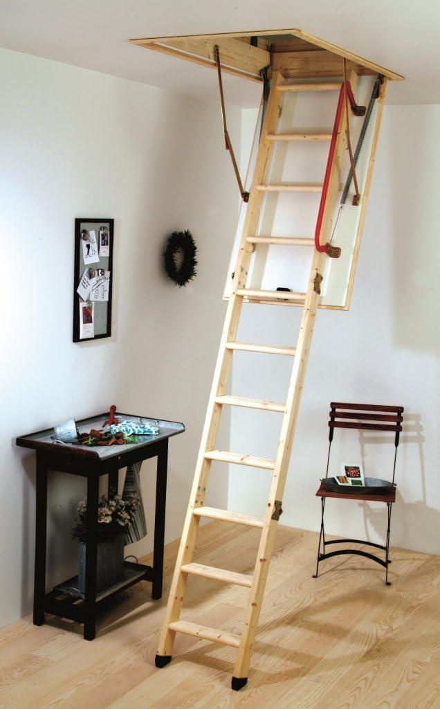 Escalera para desván Youngman madera: Amazon.es: Bricolaje y herramientas
