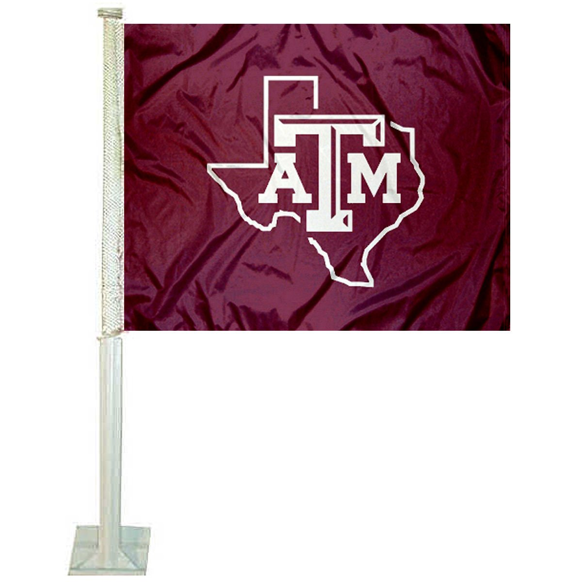 Texas A& M Aggies Lone Star Logo Car Flag College Flags and Banners Co.
