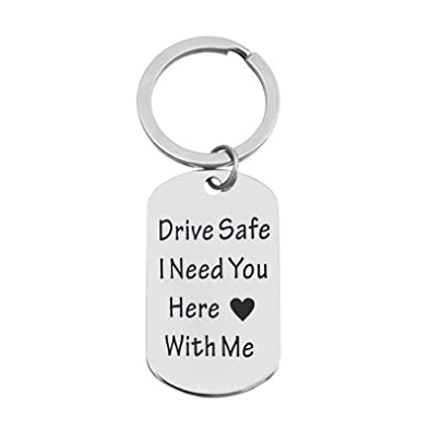 Epinki Acero Inoxidable Llavero Drive Safe i Need You Here ...