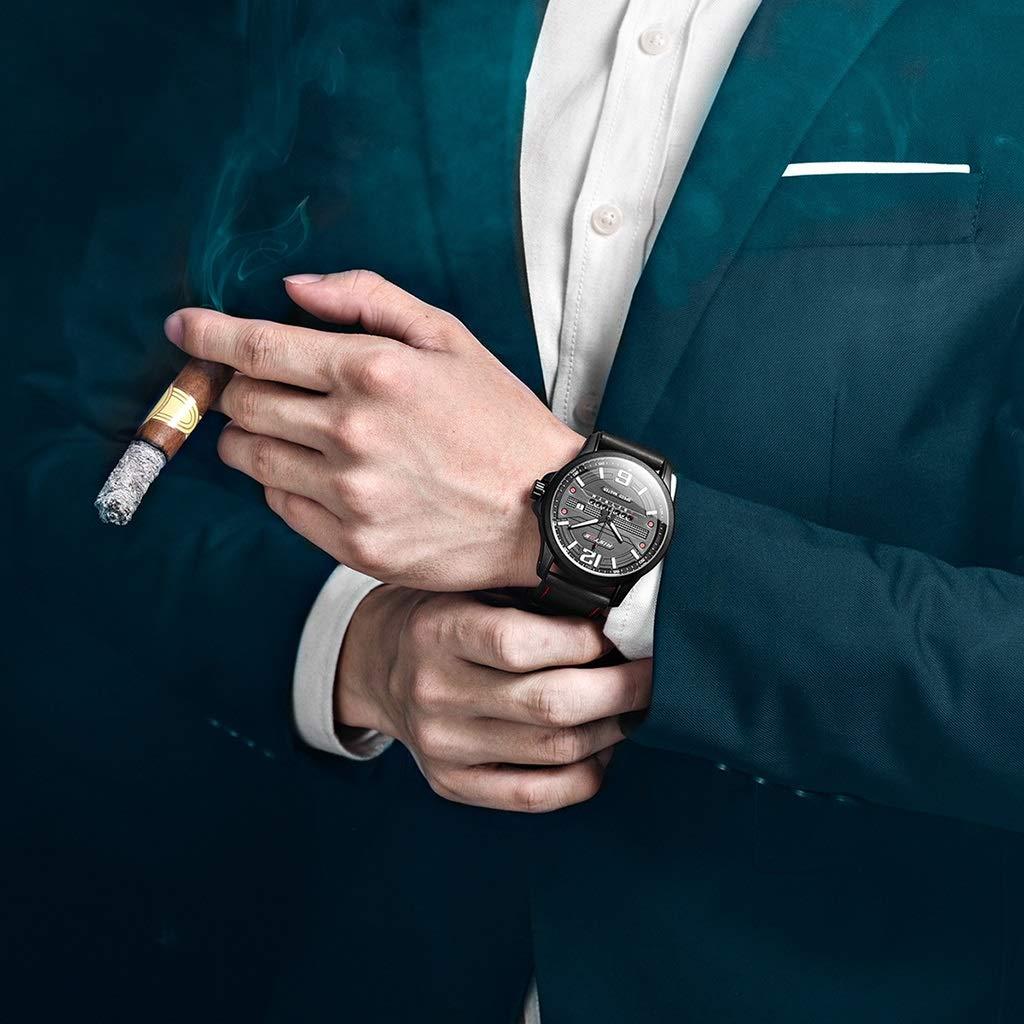 ZGP Sportklocka mode herr kvarts bälte klocka (färg: C) c